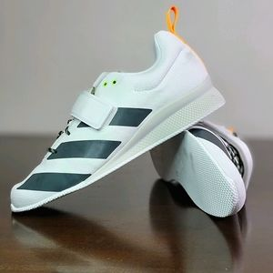 Adidas Adipower Weightlifting Shoes White Gray 9.5